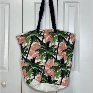 Tropical Canvas Beach Bag